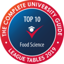 This course was awarded eighth best in the country for Food Science by the Complete University Guide.