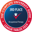 The Complete University Guide have ranked this course 3rd in the country for Occupational Therapy.