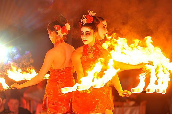 Chinese New Year fire artists