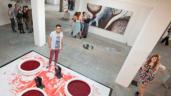 Fine arts students at Royal William Yard