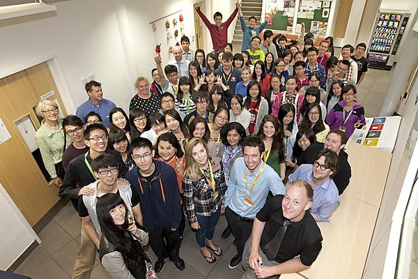 International students and Plymouth University support staff