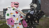 Humanoid robot Eva dressed as Pudsey