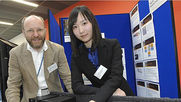 Electronics and robotics research - Jing Cai and Andy Millar, Engineering Design Manager, Bombardier Transportation.