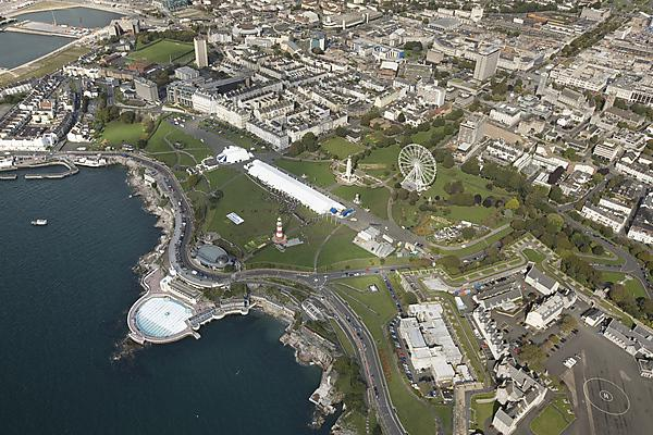 Aerial view of Plymouth Hoe