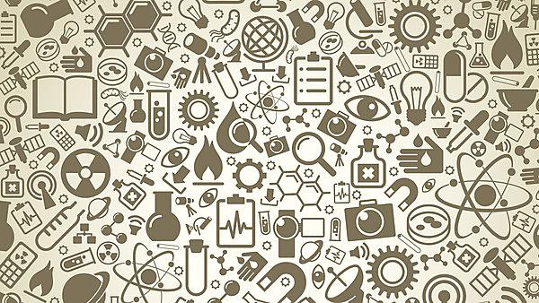 Various scientific symbols, Image courtesy of Shutterstock