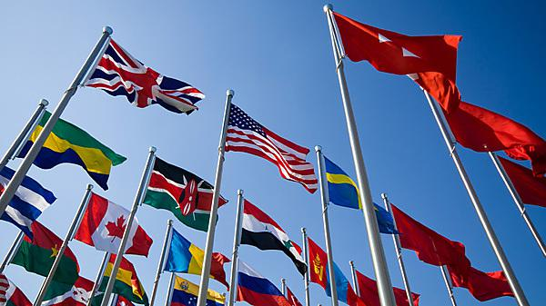 International flags photo c/o Istock