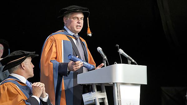 Eugene Kaspersky, CEO of Kaspersky Lab, receiving his honorary doctorate from Plymouth University