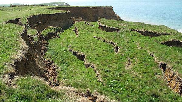 Isle of Wight landslide