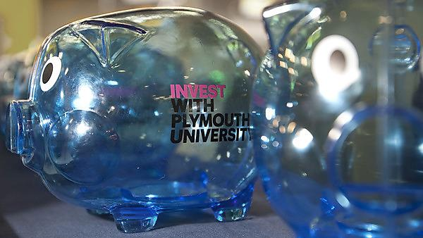 Piggy banks - invest with Plymouth University