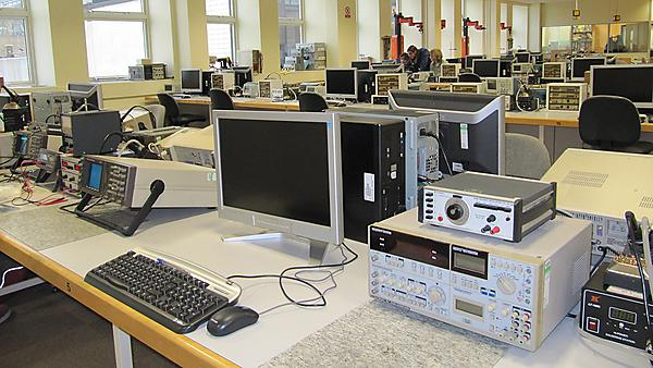 Laboratory space - The general laboratory facilities provide power supplies, soldering facilities and compiler facilities for a hands-on student experience.