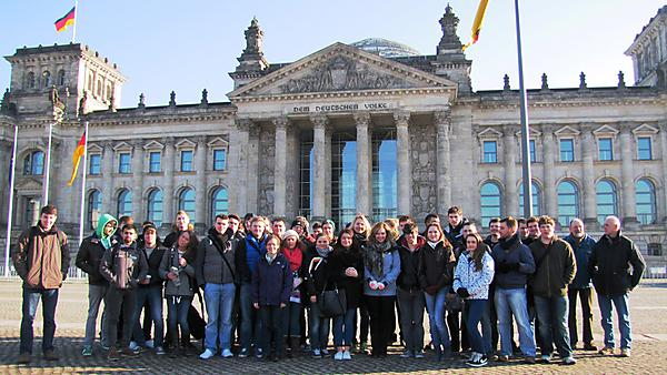 EBG Student on field trip to Berlin