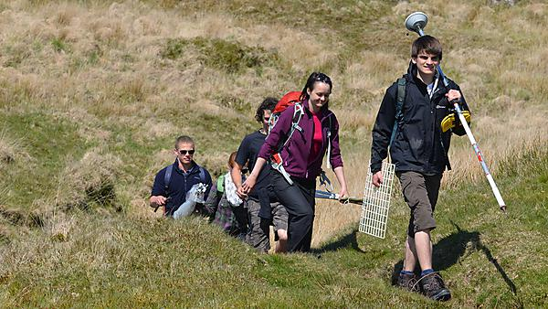 Student peatland research team on Dartmoor