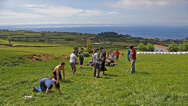 Environmental biology students on fieldwork in the Azores