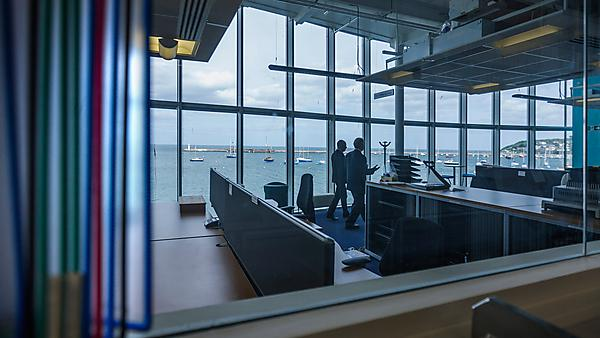 MSc Public Management - offices overlooking the water