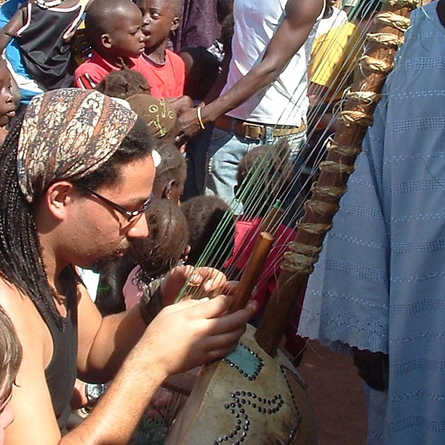 Music students in the Gambia