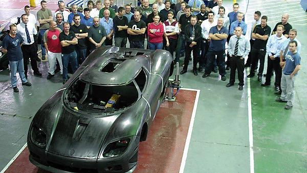 Richard Stark and the supercar Koenigsegg CCX