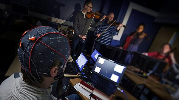 Brain cap - research by Eduardo Miranda. Centre for Computer Music Research (ICCMR)