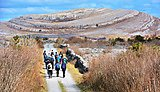 Walking to the top of Mullach Moor, Ireland