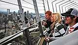 The landscape of the US city - the view from Seattle space needle