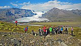 Studying glacial environments in Iceland