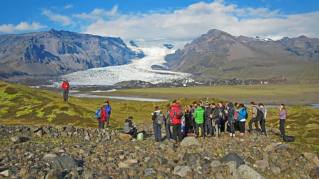 Geography fieldwork in Iceland