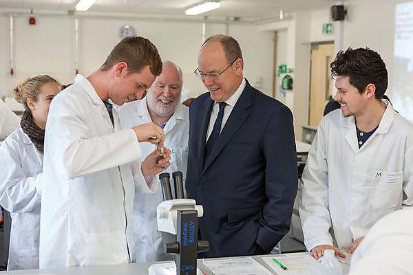 HSH Prince Albert II meets marine students