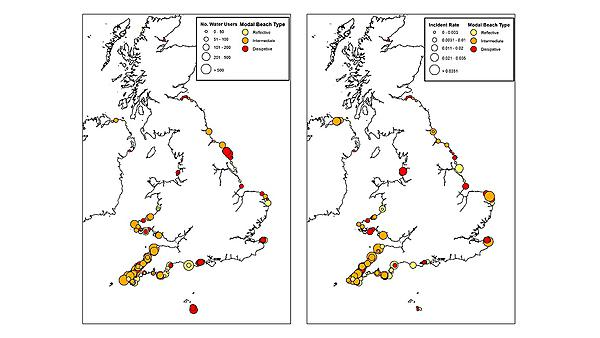 Quantification of beach risk in the UK and ROI