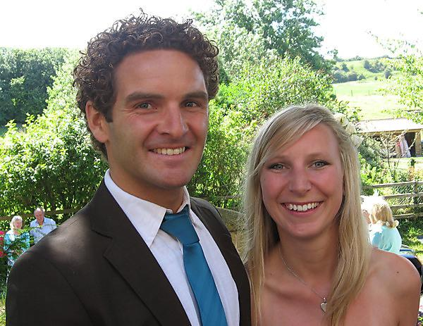 Marcus Cronin with his wife, Caroline Johnson