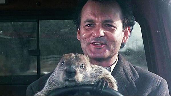 Bill Murray in Groundhog Day - Peninsula Arts film