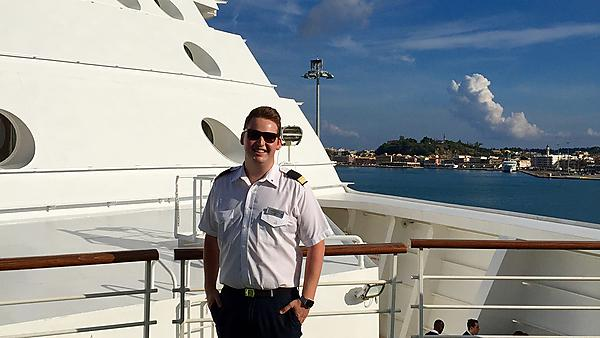 Lawrence Perkins – BSc (Hons) Cruise Management graduate