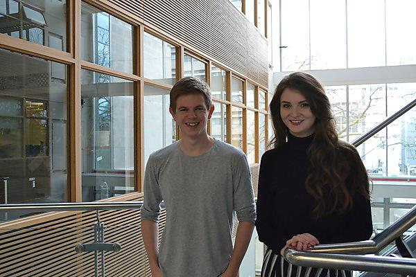 Adam Stewart and Sophie Homer - MPsych Advanced Psychology graduates