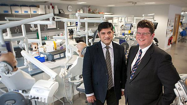 Dr Kamran Ali with Professor Christopher Tredwin, Head of Plymouth University Peninsula School of Dentistry