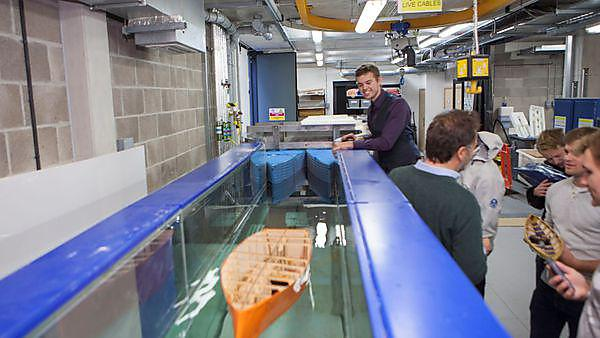 The BSc (Hons) Marine and Composite Technology and BEng (Hons) Marine Technology students