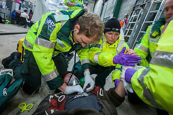 Student paramedics get hands-on
