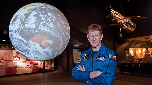 Tim Peake at the Science Museum in London