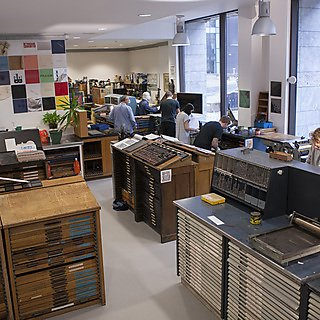 The letterpress studio on campus
