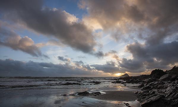 Sunset at Wembury Beach