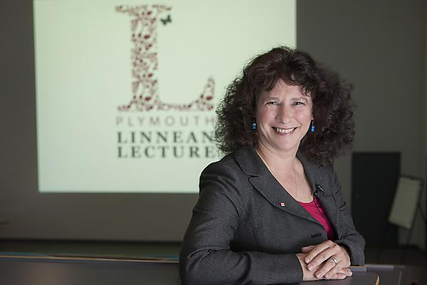 Professor Camille Parmasan at the Plymouth Linnean Lecture 2014