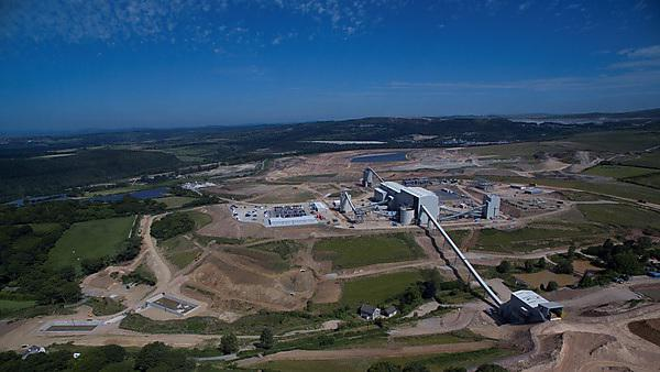 Aerial photo of the Drakelands Mine (credit: Wolf Minerals (UK) Ltd)