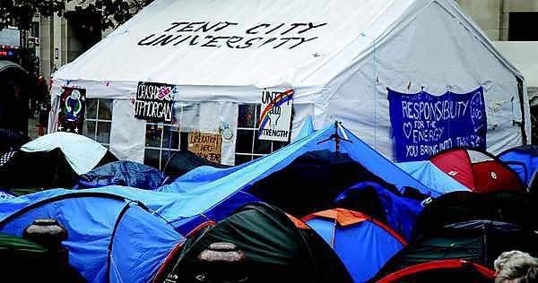 The significance and survival of Tent City University project