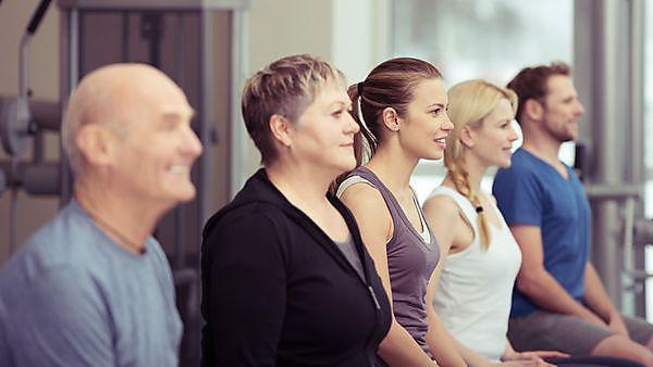 Row of diverse young and old people in a gym, Copyright: racorn, courtesy of Shutterstock 244732921