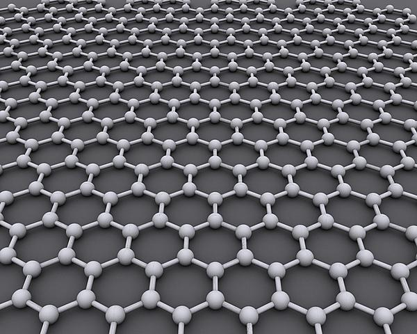 The structure of graphene - Image by AlexanderAlUS via Wikimedia Commons