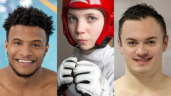 Sporting success -  Issa Abdalla, Katie Bradley and Antony James