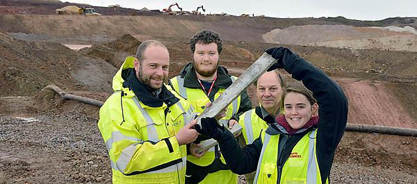 Students use new mine for geological research