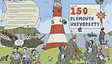 Jake's cover for a book to celebrate Plymouth University's 150th birthday