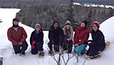 Holly went snowshoeing with friends