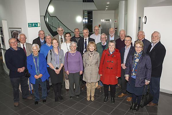 Members of Saltram Rotary Club with brain tumour scientists at Plymouth University