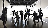 Second year dance students rehearse their major production GreyScale