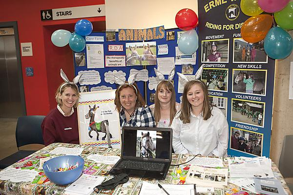 Occupational Therapy students Jane Cross, Laura Wren, Emily Mann and Liv Mills
