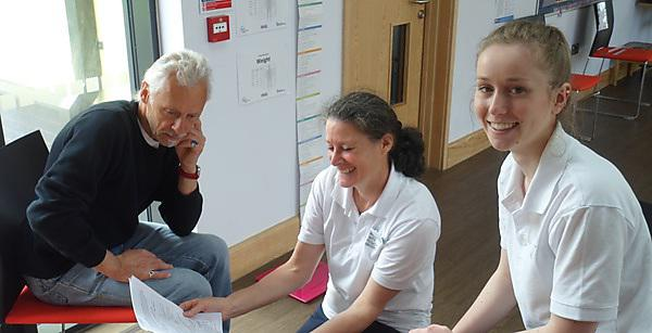 Physio students offering fitness assessments to over-60s